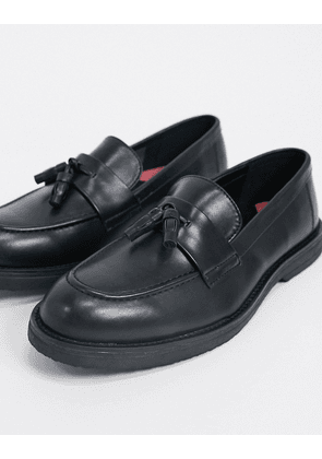 Topman chunky loafers in black