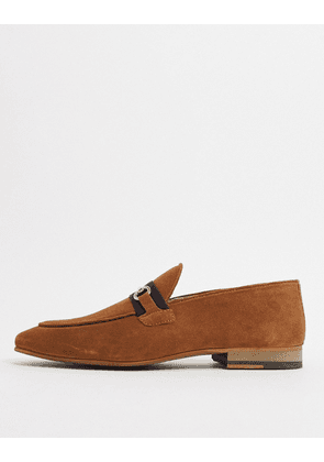 Topman loafers with trim in tan