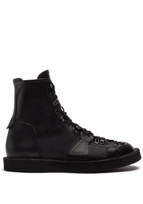 Dolce & Gabbana panelled lace-up boots - Black