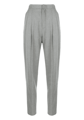 Saint Laurent high-waist tailored trousers - Grey