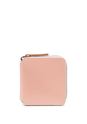 Ally Capellino logo embossed zipped wallet - PINK