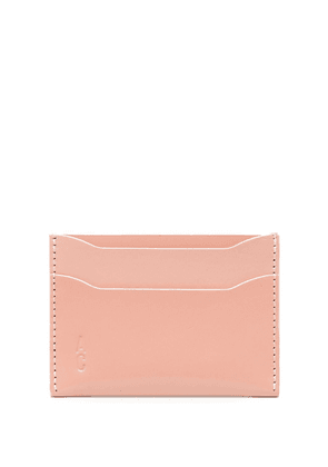 Ally Capellino logo embossed cardholder wallet - Pink