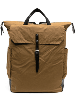 Ally Capellino Fin twill backpack - Brown