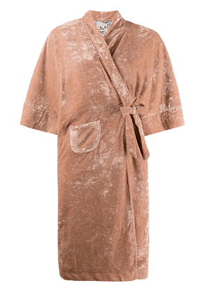 Bellerose distressed robe-coat - Neutrals