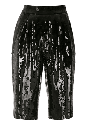 Saint Laurent sequinned high-waisted shorts - Black