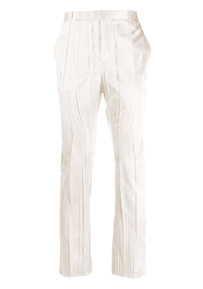 Saint Laurent pleated mid-rise tailored trousers - Neutrals