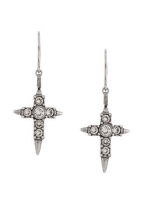 Saint Laurent cross-pendant earrings - SILVER
