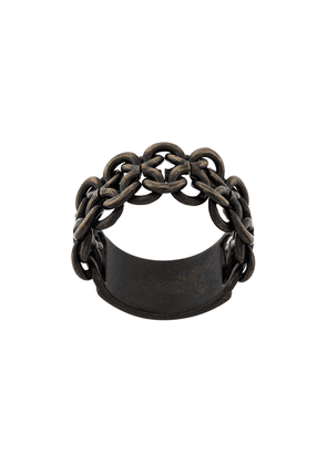 Saint Laurent interlaced-effect ring - Metallic