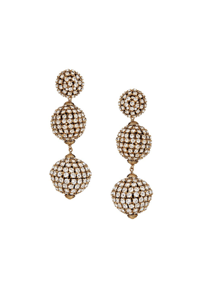 Saint Laurent gold-tone crystal-embellished drop earrings