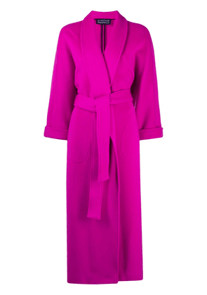 Gianluca Capannolo belted virgin wool-blend coat - PINK