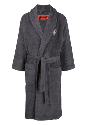 Off-White Arrow Leaves bathrobe - Grey