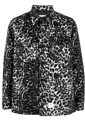 Department 5 animal print button-up jacket - Black