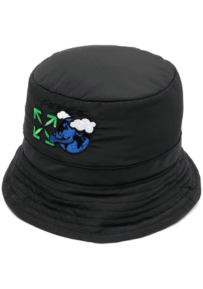 Off-White embroidered Arrows bucket hat - Black