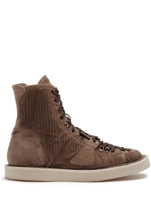 Dolce & Gabbana corduroy ankle boots - Brown