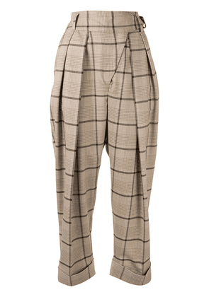 Eudon Choi Antonin checked tailored trousers - Brown
