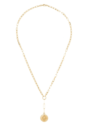Foundrae 14kt gold and diamond drop pendant necklace