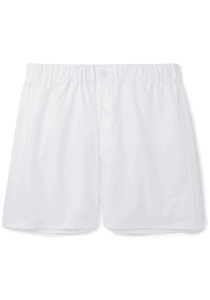 EMMA WILLIS - Cotton Oxford Boxer Shorts - Men - White - S