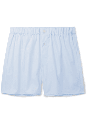 EMMA WILLIS - Cotton-Poplin Boxer Shorts - Men - Blue - S