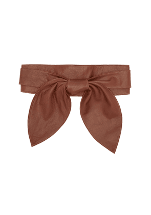 Johanna Ortiz - Women's Sing Of Love Leather Belt - Tan/brown - Moda Operandi