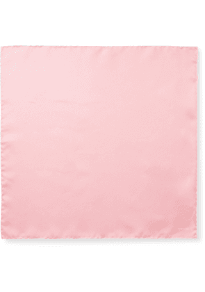 TOM FORD - Contrast-Tipped Silk-Twill Pocket Square - Men - Pink