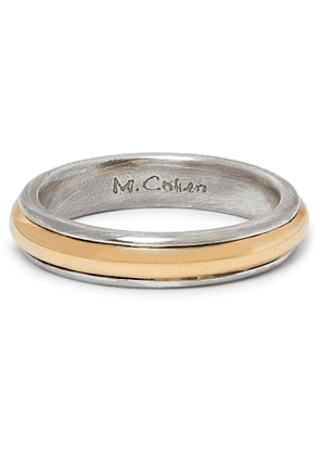 M.COHEN - 18-Karat Gold and Sterling Silver Ring - Men - Silver - 9