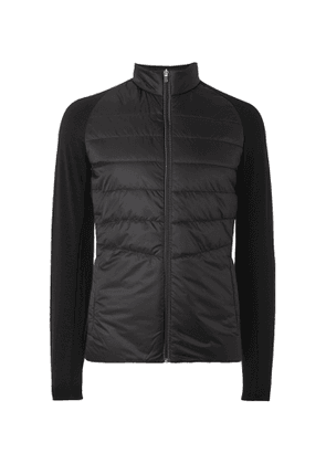 FALKE Ergonomic Sport System - Stretch Jersey-Trimmed Quilted Ski Jacket - Men - Black