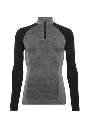 FALKE Ergonomic Sport System - Panelled Stretch Virgin Wool-Blend Ski Base Layer - Men - Gray
