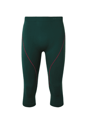 FALKE Ergonomic Sport System - Warm 3/4 Cropped Stretch-Jersey Ski Tights - Men - Green
