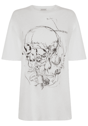 Skull Print Over Cotton Jersey T-shirt