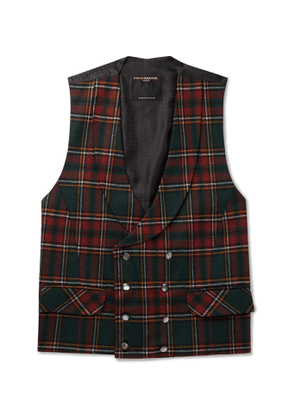 Favourbrook - Dunrobin Slim-Fit Double-Breasted Prince of Wales Checked Wool-Blend Waistcoat - Men - Multi - UK/US 38