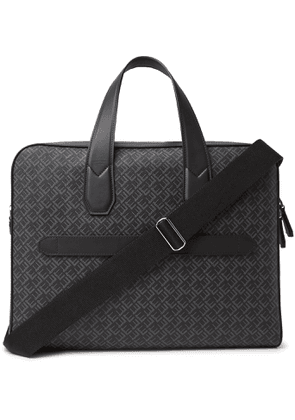 DUNHILL - Leather-Trimmed Logo-Print Coated-Canvas Briefcase - Men - Black