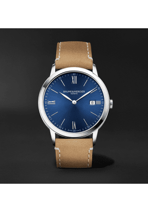 Baume & Mercier - Classima 40mm Stainless Steel and Leather Watch, Ref. No. 10385 - Men - Blue