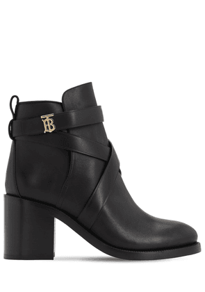 70mm Pryle Leather Ankle Boots