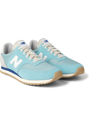 New Balance - Comp 100 Leather and Suede-Trimmed Shell Sneakers - Men - Blue