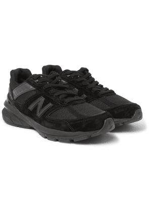 New Balance - M990v5 Rubber-Trimmed Suede and Mesh Sneakers - Men - Black