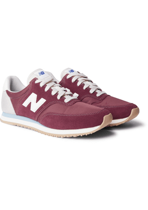 New Balance - Comp 100 Leather and Suede-Trimmed Shell Sneakers - Men - Burgundy