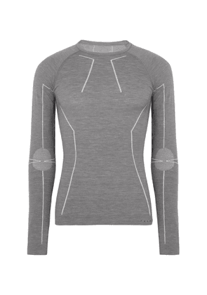 FALKE Ergonomic Sport System - Stretch Virgin Wool-Blend Ski Base Layer - Men - Gray