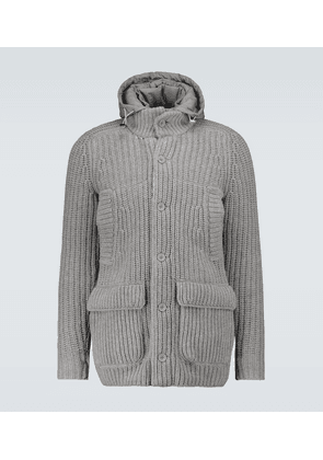 Knitted padded jacket