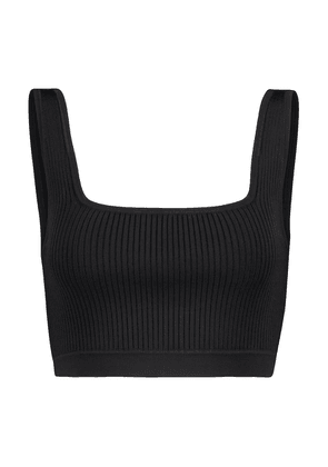Agnes ribbed-knit crop top
