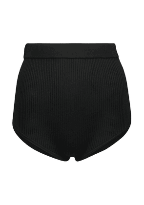 Agnes ribbed-knit briefs