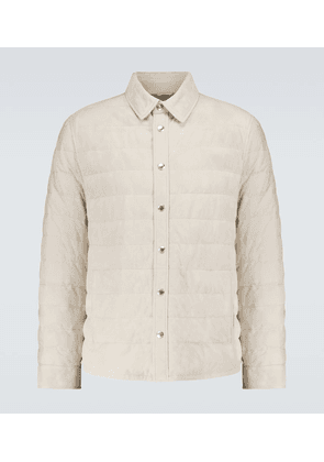 Padded suede jacket