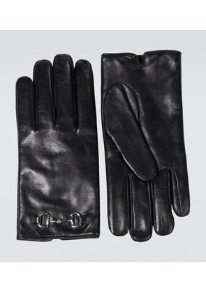 Horsebit leather gloves