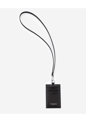 The Kooples - Black leather card holder with strap - WOMEN