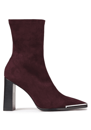 Alexander Wang Mascha Suede Ankle Boots Woman Burgundy Size 40