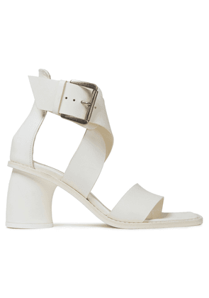 Ann Demeulemeester Leather Sandals Woman White Size 35