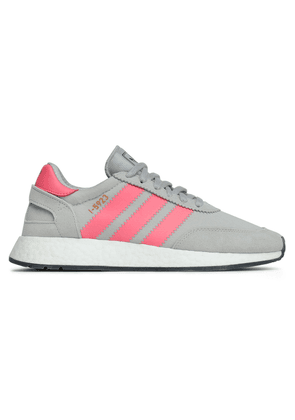 Adidas Originals I-5923 Suede-trimmed Stretch-knit Sneakers Woman Light gray Size 7
