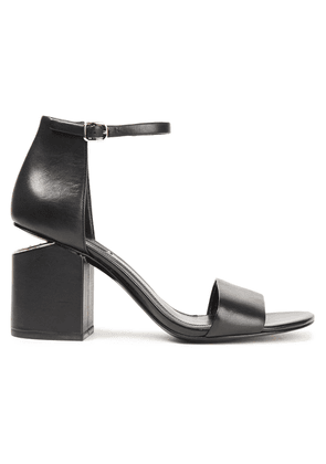 Alexander Wang Abby Leather Sandals Woman Black Size 36.5
