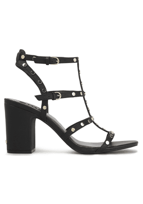 Dkny Studded Pebbled-leather Sandals Woman Black Size 8