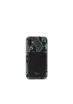 Mulberry iPhone 11 Case With Credit Card Slip - Mulberry Green