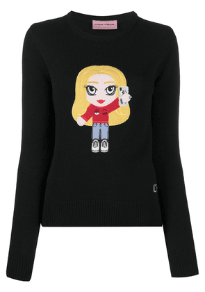 Chiara Ferragni Chiara-patch wool-blend jumper - Black